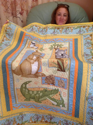 Aussie quilt for our new addition